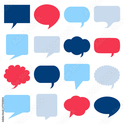 Empty speech bubbles icons set great for any use. Vector EPS10.