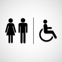 Restroom Signs Icon Great For Any Use. Vector EPS10.