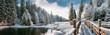 Leinwanddruck Bild - Зимний лес в Карпатах