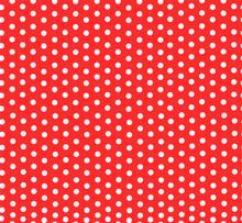 Polka Dot Red-white Pattern Vector