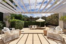Backyard Cozy Patio Area With ...