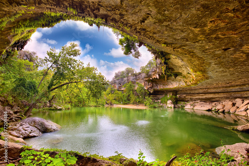 Foto op Canvas Texas Hamilton Pool sink hole, Texas, United States