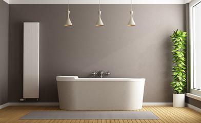 Fototapeta na wymiar Minimalist bathroom