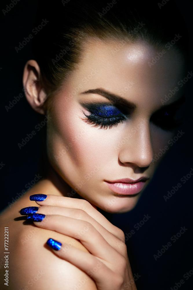 Photo  Blue Glitter