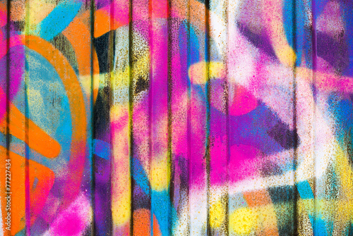 Spoed Foto op Canvas Graffiti Colorful painted wall