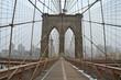 Brooklyn Bridge in the winter, New York City, USA