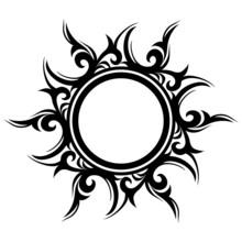 Vector Ornament, Abstract Sun,...