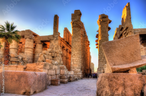 Recess Fitting Egypt View of the Great Hypostyle Hall in at Karnak - Egypt