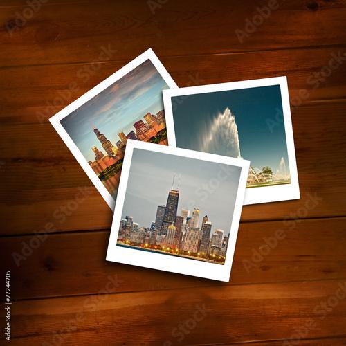 Fotografie, Obraz  Vintage polaroids of travel memories