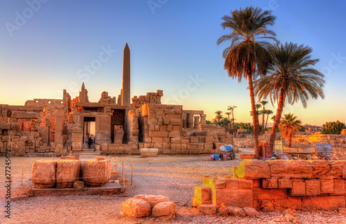 Photo Stands Egypt View of the Karnak Temple Complex in Luxor - Egypt