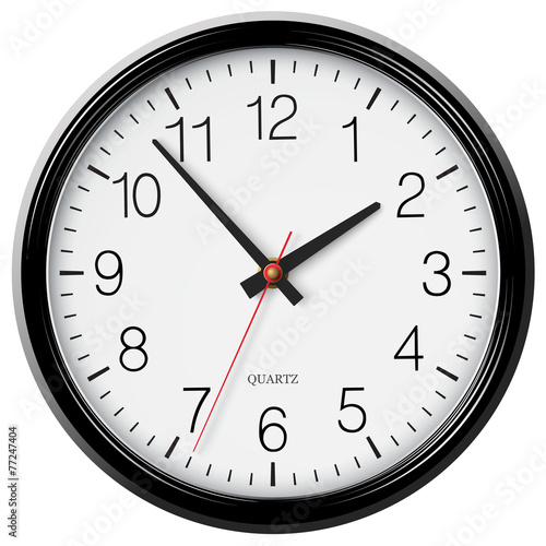 Photo  Vector classic black round wall clock