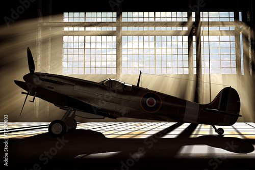 Photo Spitfire Mk.V - modelled in 3D
