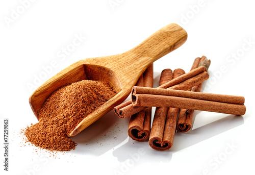 Fotografie, Obraz  cinnamon ground and sticks