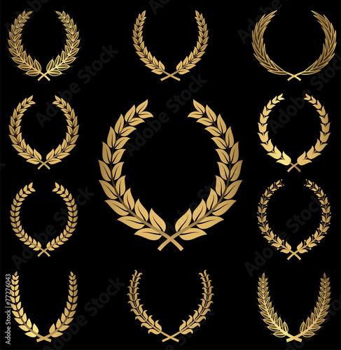 Fotografie, Obraz  Gold Wreaths