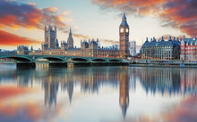 London - Big Ben And Houses Of...
