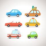 Car Flat Icon Set 1