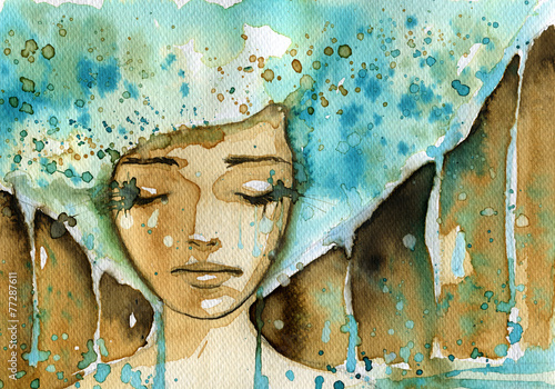 Fototapety, obrazy: blue woman