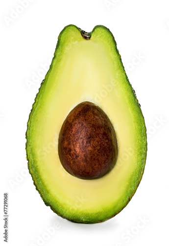Fotografie, Obraz  Half of avocado isolated on white