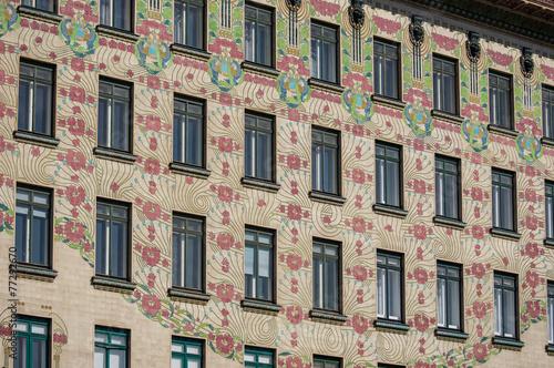 Obraz na plátne  Art Nouveau building in Vienna, Austria