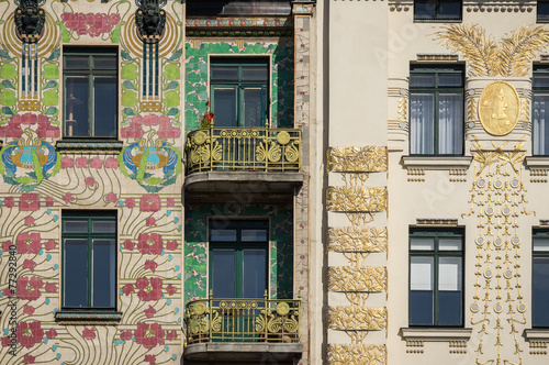 Art Nouveau buildings in Vienna, Austria Poster