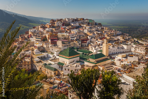 Canvas Prints Morocco View of Moulay Idriss