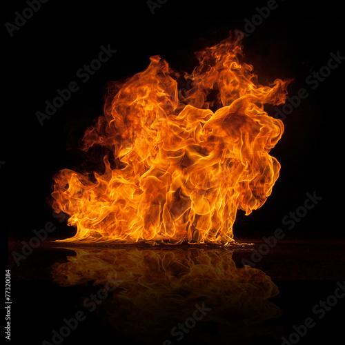 obraz dibond Piękne stylowe płomienie ognia