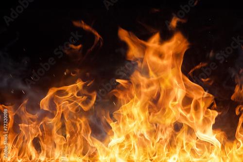 Fotobehang Vuur Beautiful stylish fire flames