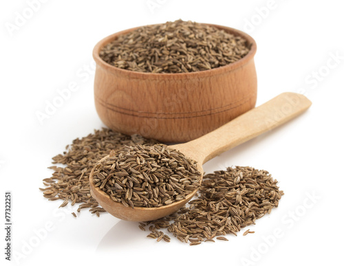 Fototapeta cumin seeds on white background obraz