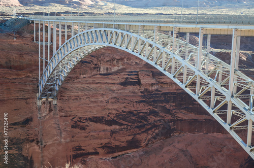 Photo  Glen Canyon Bridge near Glen Canyon Dam in Page Arizona
