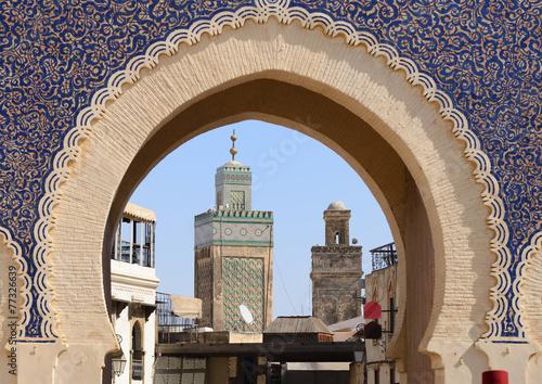 Fotomural  Morocco. Blue Gate Bab Bou Jeloud in Fes