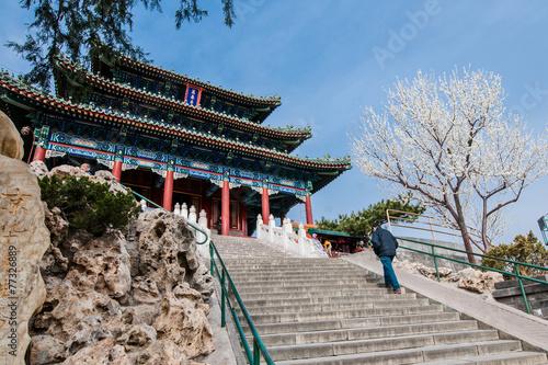 Poster Pekin Pavilion of Everlasting Spring in Jingshan Park, Beijing, China