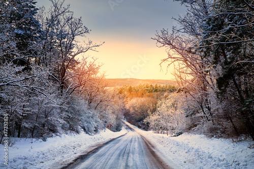 zimowa-droga-w-lesie
