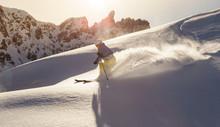 Male Skier On Downhill Freerid...