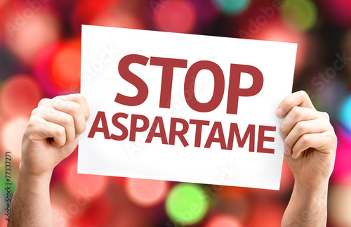Stop Aspartame card with colorful background Wallpaper Mural