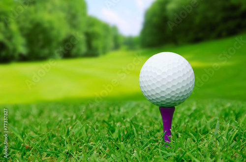 Foto op Aluminium Golf Golf ball on course