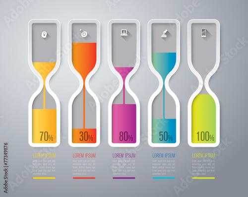 Photo  Infographics vector design template.