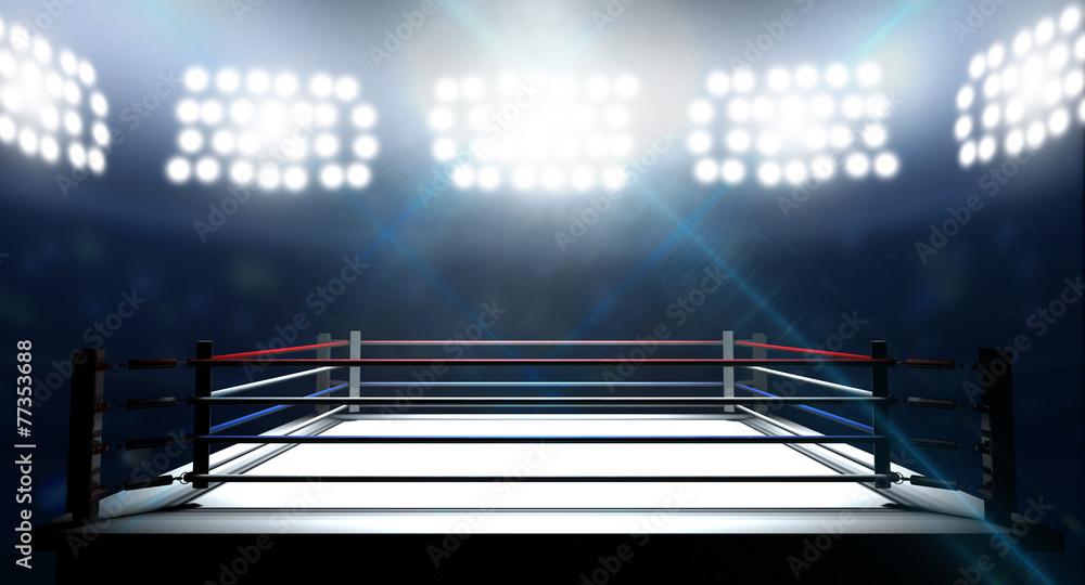 Fototapety, obrazy: Boxing Ring In Arena