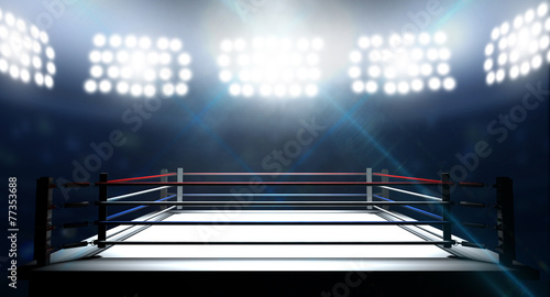 Boxing Ring In Arena Canvas Print