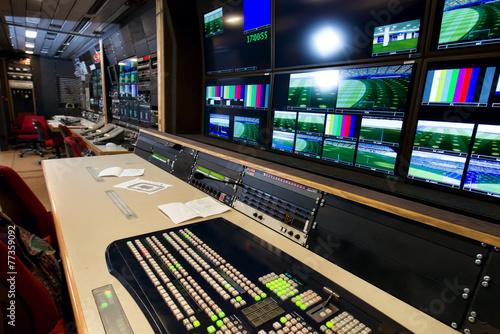Valokuva  Remote control in a television studio recording.