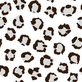 Leopard pattern, black and white. Vector