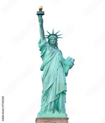 Fotografie, Obraz  Statue of Liberty isolated on white background