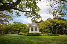 The Bandstand In Singapore Botanic Gardens.