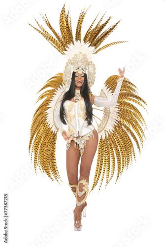 Fotografie, Tablou  Hübsche Brasilianerin mit Kostüm