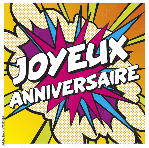 Foto auf AluDibond Graffiti Joyeux anniversaire carte anniversaire recto 5