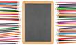 canvas print picture Cornice pastelli&lavagna