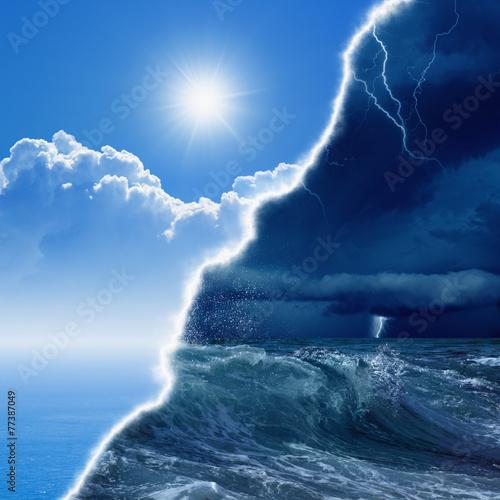 Spoed Fotobehang Onweer Weather forecast