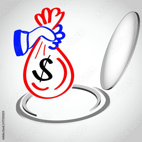Fotografie, Obraz  Verschwendung Dollar