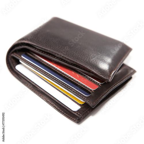 Fotografía  portefeuille et carte de crédit