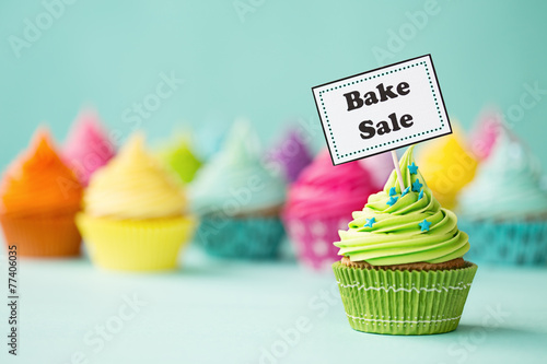 Bake sale cupcake Wallpaper Mural