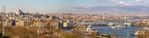 Photo sur Toile Europe Centrale Cityscape of Istanbul from the Topkapi Palace - Turkey